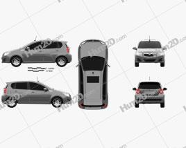 Holden Barina (TK) hatchback 2008 car clipart
