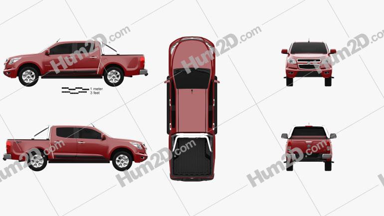 Holden Colorado LTZ Crew Cab 2012 car clipart