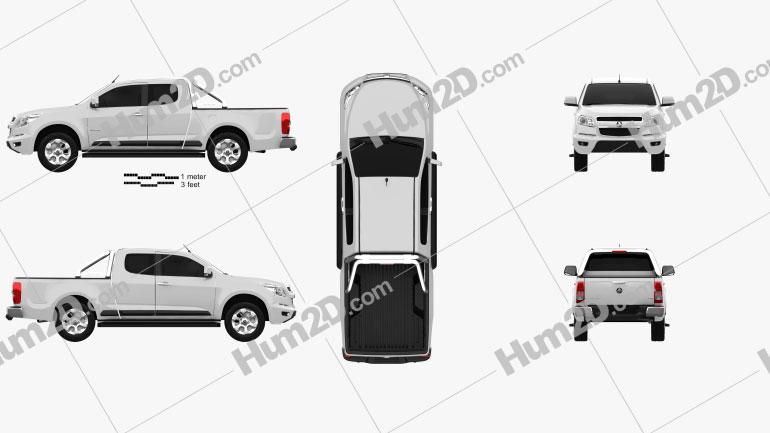 Holden Colorado LTZ Space Cab 2012 car clipart