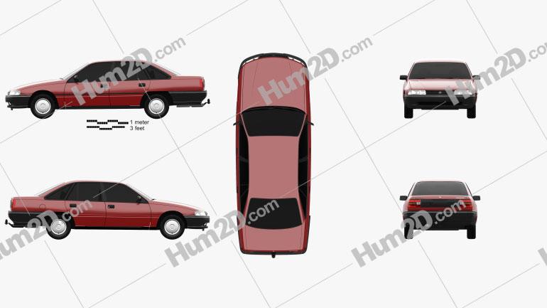 Holden Commodore 1988 car clipart