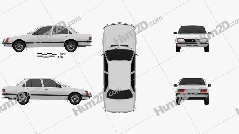 Holden Commodore 1981 car clipart