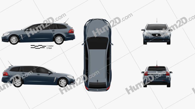 Holden Commodore Evoke sportwagon 2013 car clipart