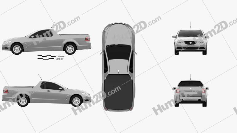 Holden Commodore Evoke ute 2013 car clipart