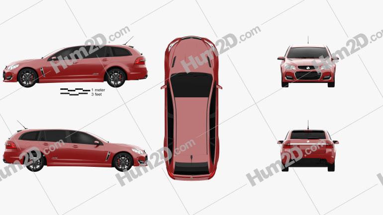 Holden Commodore SS-V Redline Sportwagon 2015 car clipart