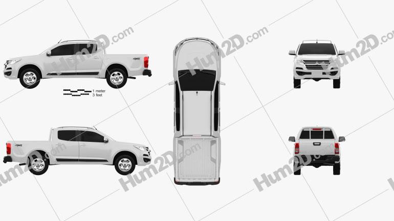 Holden Colorado LS Crew Cab 2016 car clipart