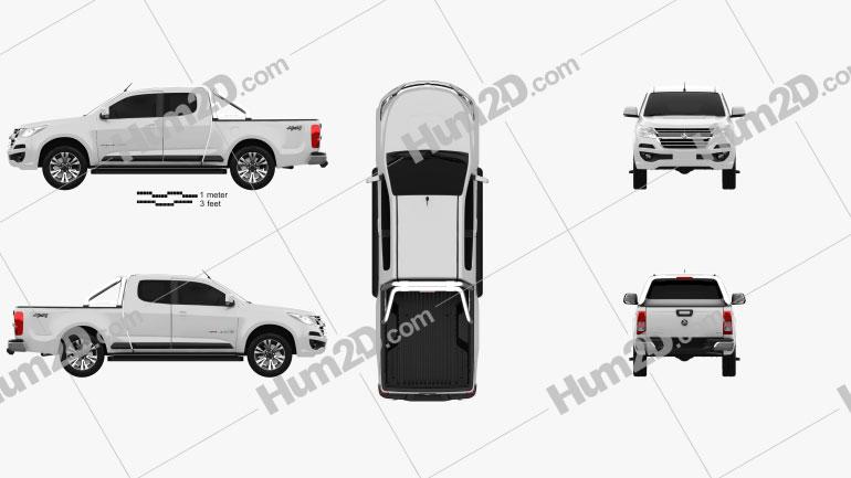 Holden Colorado Space Cab LTZ 2016 car clipart