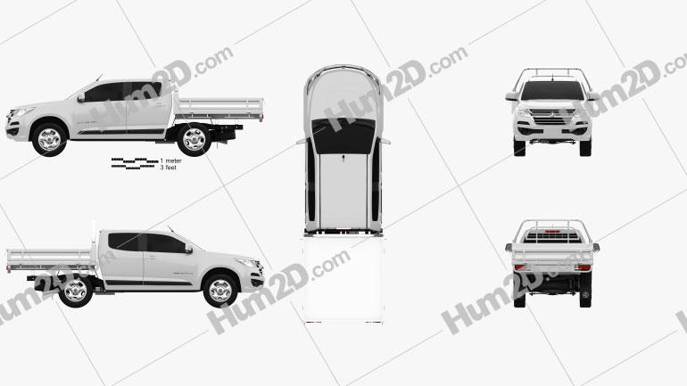 Holden Colorado LS Crew Cab Alloy Tray 2016 car clipart