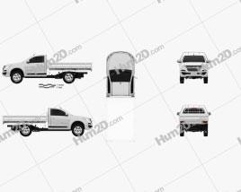 Holden Colorado LS Single Cab Alloy Tray 2016