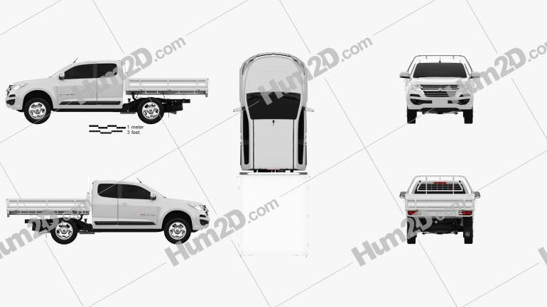 Holden Colorado LS Space Cab Alloy Tray 2016 Clipart Bild