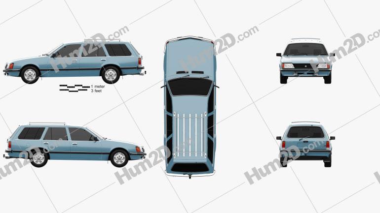 Holden Commodore Wagon 1981 car clipart