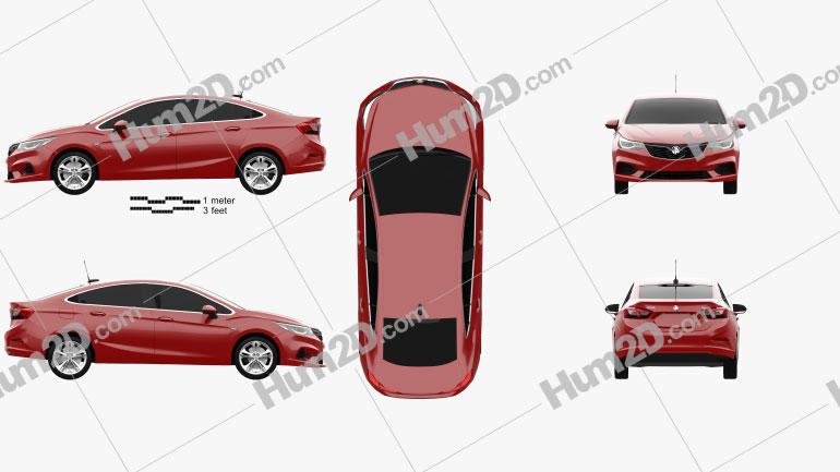 Holden Astra LTZ 2017 car clipart