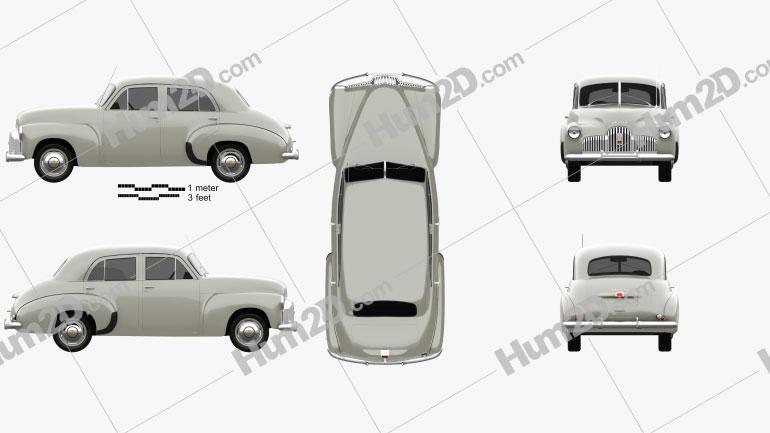 Holden 48-215 sedan 1948 car clipart