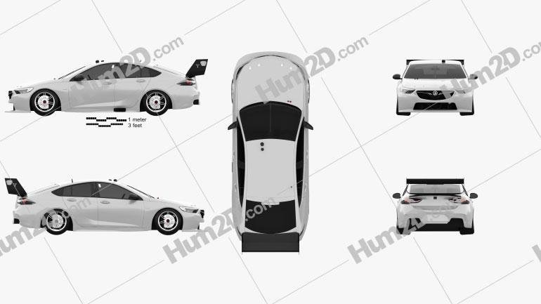 Holden Commodore (ZB) Supercar v8 2017 car clipart