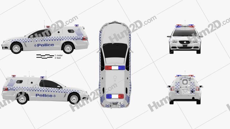 Holden Commodore ute Evoke Police 2013 car clipart