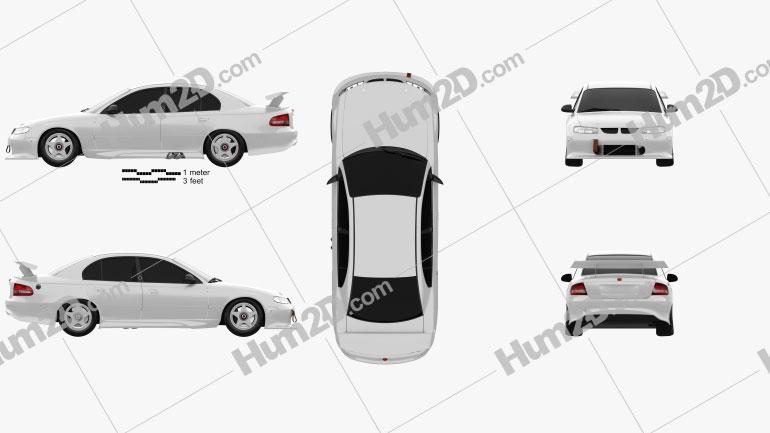 Holden Commodore Race Car sedan 1997 car clipart