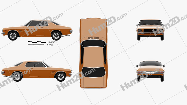 Holden Monaro GTS 350 Coupe 1971 car clipart