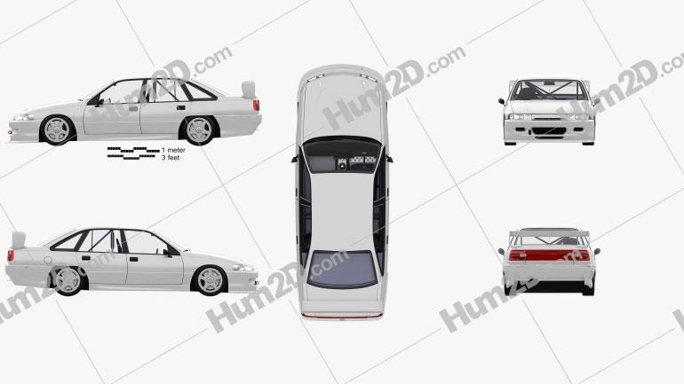 Holden Commodore Touring Auto mit HD Innenraum 1993 car clipart
