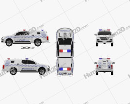 Holden Colorado Space Cab Divisional Van 2018