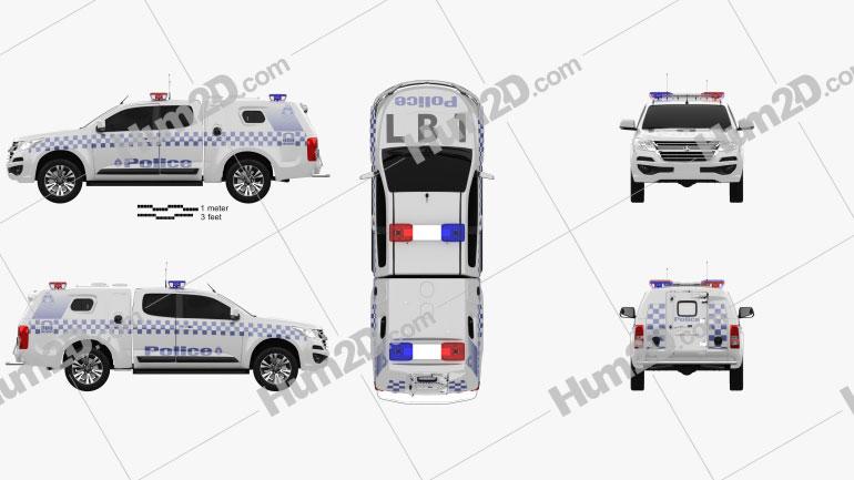 Holden Colorado Space Cab Divisional Van 2018 car clipart