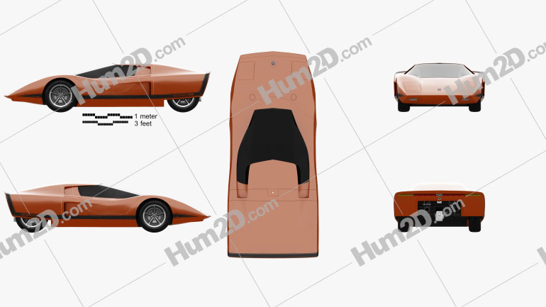 Holden Hurricane 1969 car clipart