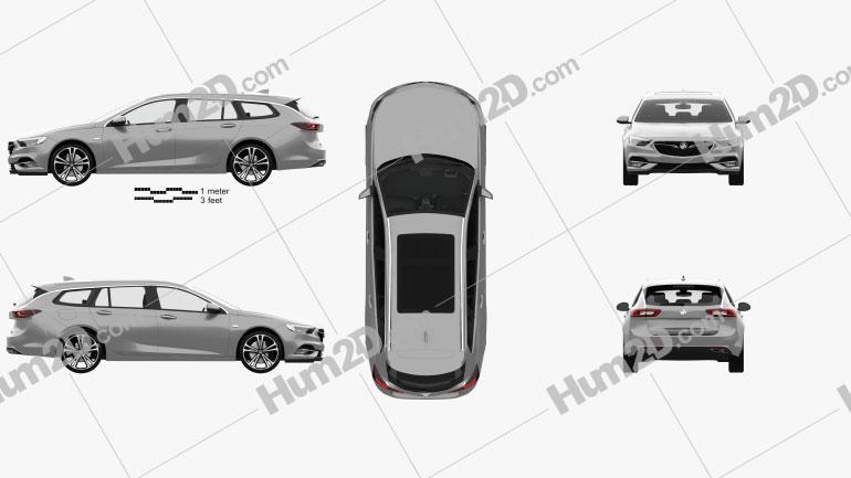 Holden Commodore Sportwagon mit HD Innenraum 2018 car clipart