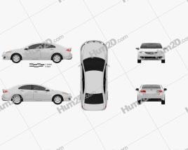 Honda Accord Sedan car clipart