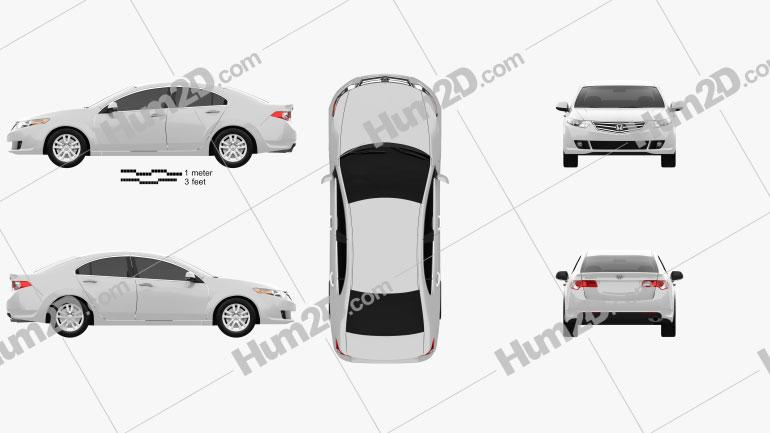 Honda Accord Sedan Clipart Image