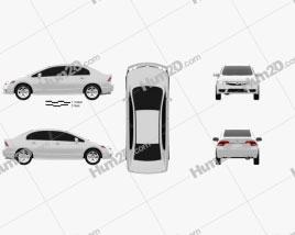 Honda Civic Sedan 2009 car clipart
