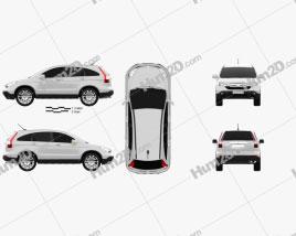 Honda CR-V 2010 car clipart