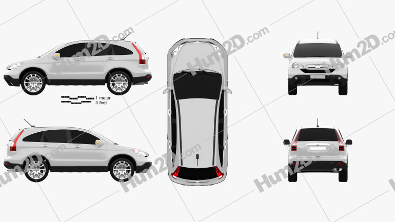 Honda CR-V 2010 Clipart Image