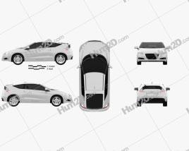 Honda CR-Z (ZF1) car clipart
