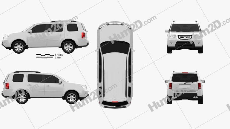 Honda Pilot 2010 car clipart