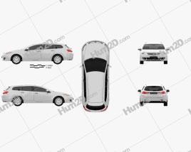 Honda Accord Tourer 2009 car clipart