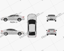 Honda Accord Sedan Type S 2011 car clipart