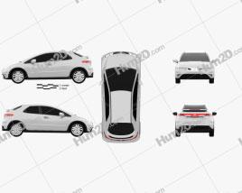 Honda Civic TypeR 2007 car clipart