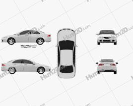 Honda Accord sedan 2003 car clipart