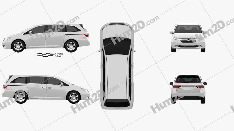 Honda Odyssey 2011 clipart