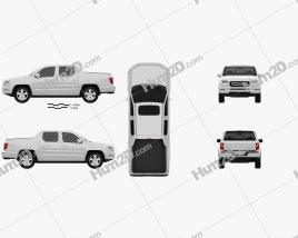 Honda Ridgeline 2009 car clipart