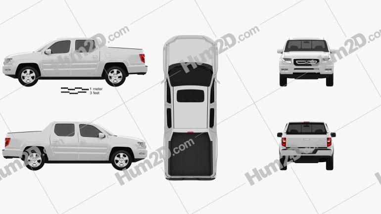 Honda Ridgeline 2009 Clipart Image