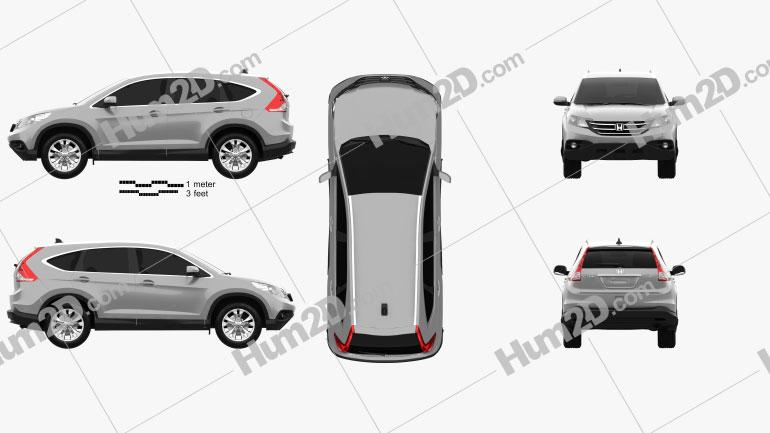 Honda CR-V 2012 Clipart Image