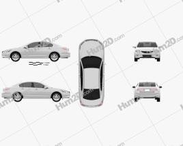 Honda Accord Sedan 2012 car clipart