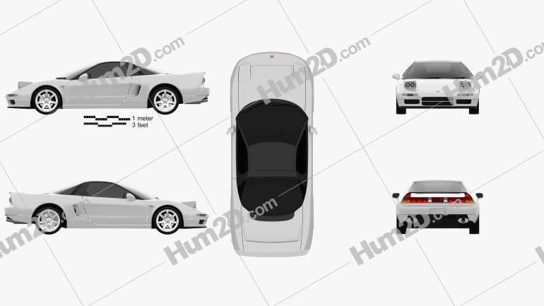 Honda NSX Type-R 1992 car clipart
