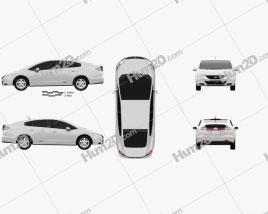 Honda FCX Clarity 2010 car clipart