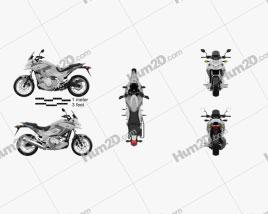 Honda NC700X 2012 Motorcycle clipart