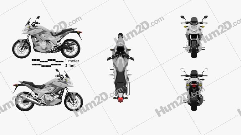 Honda NC700X 2012 Clipart Image