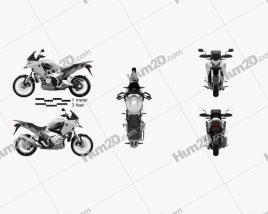 Honda VFR1200X 2012 Motorcycle clipart