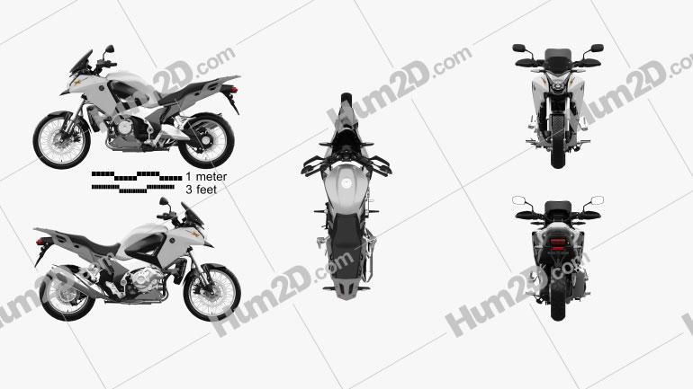 Honda VFR1200X 2012 Clipart Image