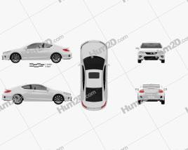 Honda Accord coupe 2013 car clipart