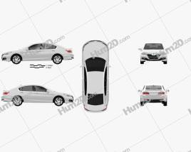 Honda Accord PHEV 2014 car clipart