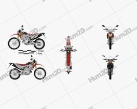 Honda CRF250L 2013 Motorcycle clipart